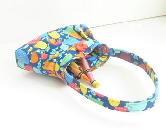 tiny purse. baby girl presents. turtle toy toddler girl crayon bag. orange yellow cute gifts under 25. twin first birthday purse