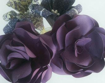Paper  rose  custom made  to  order  wedding  decor  wedding  bouquet  anniversary  gift