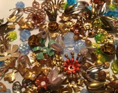 Vintage Brass Enamel Metal Glass Flowers for Creations (100+)(8-28mm)