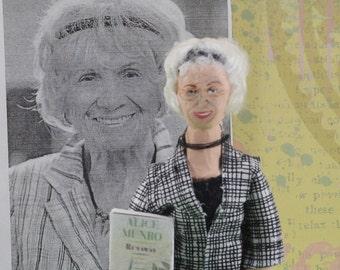 Alice Munro - Writer Doll- Miniature Art- Canadian Authors
