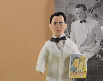 Humphrey Bogart- Doll Miniature- Old Hollywood-  Film Star- Silver Screen