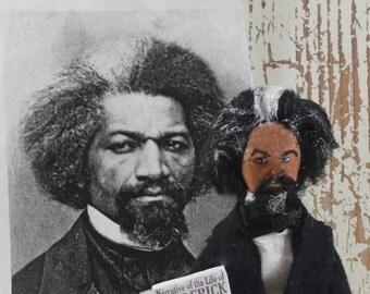 Frederick Douglass Doll Miniature Black History Art Collectible