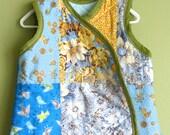 quilted sleep sack baby boys blue and yellow wearable blanket, blanket sleeper baby pyjamas