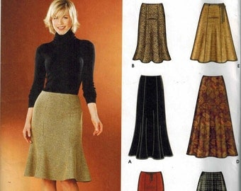 Simplicity 5914 Skirts in two lengths Sewing Pattern Sizes 14-16-18-20-22 Great for Summer tulip or boot
