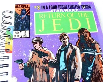 Star Wars Return of the Jedi Comic Journal & Sketchbook // Recycled Vintage Comic