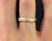 40% Off Vermeil Sale Rose Gold Vermeil Coral Ring| Ring| Nature Inspired Ring Design