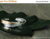Valentines Day Sale Silver Leaf Cuff | Silver Bracelet | Nature Inspired