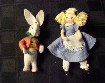 Dolls/Baps/ White Rabbit/ Alice in Wonderland/Wartime Germany
