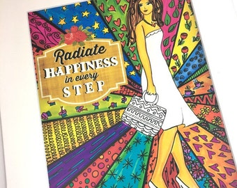 AFFIRMATION PRINT: Radiate Happiness