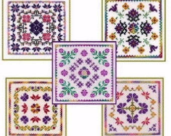 Cross Stitch Pattern, The Garden Collection Counted Cross Stitch Pattern by Dinky Dyes Designs, Flower Design DD, Flower Pattern