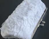 Something Blue White Bride Clutch