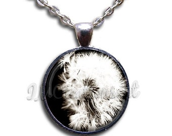 20% OFF - Dandelion Make A Wish Glass Dome Pendant or with Chain Link Necklace NT123