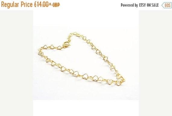 Gold Vermeil Hearts Bracelet, Bridal bracelets, Boho jewellery