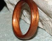Koa Wood Ring (In Stock Size 8.25; 4mm width) // Wood Wedding Ring // Wooden Wedding Band
