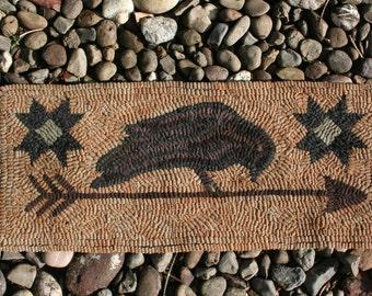 Arrow & Crow Primitive Hand Hooked Rug