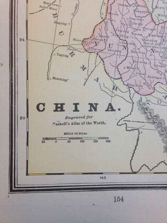 Older 1891 Map of China