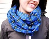 Infinity Scarf Nova Scotia Tartan Blue Tartan Circle Scarf Loop Scarf Featured on BuzzFeed