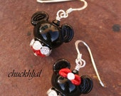 MOTHERSDAY SALE-A-Bration Disney Inspired One Mickey and One Minnie Mouse DeSIGNeR EaRRiNgs makes this a match made in Magical Heaven
