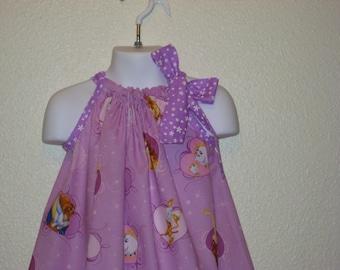 Disney Beauty and the Beast Pillowcase dress in lavendar