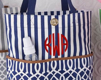 Personalized Diaper Bag Navy Blue Monogrammed