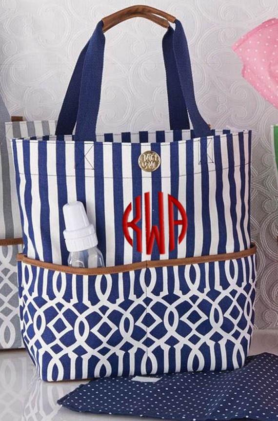personalized diaper bag navy blue monogrammed. Black Bedroom Furniture Sets. Home Design Ideas