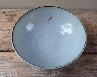 Large Blue Diver Bowl