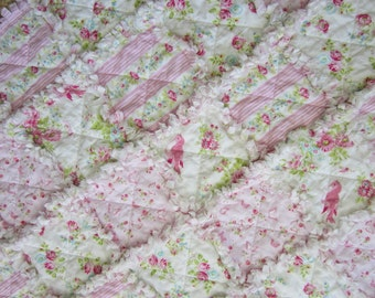 Floral Baby Quilt | Baby Girl Quilt | Baby Shower Gift | Pink Baby Quilt