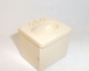 Vintage Fisher Price Kitchen White Single Sink Little People Toy