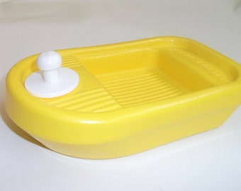 Vintage Fisher Price Tub Tugboat Barge Boat Yellow 1978