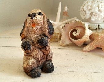 Chalkware Puppy Dog with Bow - Carnival -