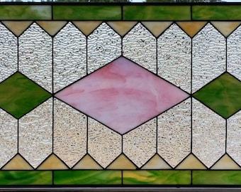 """Stained Glass Window - """"Central Diamonds"""" (W-90)"""