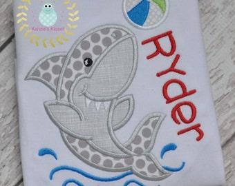 Shark Appliqué shirt - Shark  t-shirt - t-shirts - Sharks - Toddler - Babies - Bodysuit - 12 mo 18 2t 3t 4t 5t 6 8