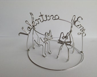 Custom Cats Ornament with Names