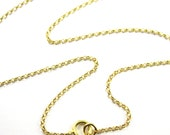 22K Gold plated Sterling Silver Chain,Extra Long Necklace -1mm Rolo Chain- Rolo Chain Necklace for Pendant- 36 inches (1 pc)-SKU: 601016VM