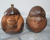 Carved Coconut Head and Bank