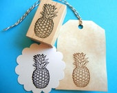 Pineapple Rubber Stamp - Handmade  by BlossomStamps