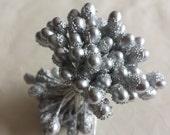 New Item -- 1 Bundle of Double Sided Big Silver Pollen Tip Floral Stamen