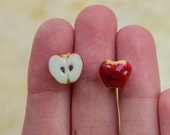 Apple Studs / Post Earrings, Fruit & Veggies Food Jewelry, Healthy Collection