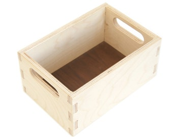 Wood Toy Crate - Handmade Wooden Storage - Storage Box - Block Box - Organizing Toys - Block Storage - Toy Box - Wood Toy - Box -TY32