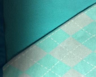 Flannel Blue Argyle Baby Blanket