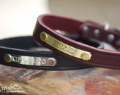 Personalized Dog Collar//Leather Dog Collar// 3/4 inch wide Dog Collar//Dog Collar