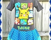 girls Pokemon GO dress Pikachu 4/5 6/6X 7/8 10/12 and 14/16 ready to ship