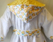 Girls-Boys-Bath-Robes-Girl-Boy-Robe-Yellow-Rubber-Ducky-Bathrobes-Childrens-Beach-Hooded-Swim-Suit-Terry-Cover Up-Baby-Toddler-Kids-Gift