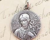 Lily Among Lilies Virgin Mary Medal - Antique Reproduction