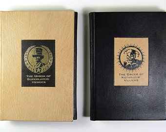 Superlative Heroes and Nefarious Villains- Limited Edition Leather Hand Bound Book- Artist's Proof