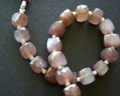 Chocolate Moonstone Faceted Cubes - Full Strand - 6 to 8mm - 6 Inches