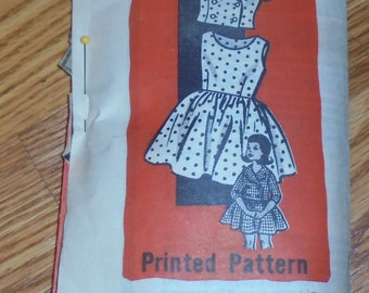 Vintage Pattern From magazine Dress and Jacket in size 8 Girls--