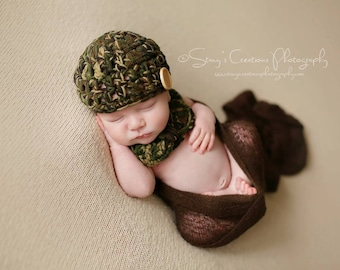 Baby Camo Hat, Baby Boy Camo Hat, Baby Camo Beanie, Baby Boy Hat, Boy Baby Hat, Newborn Boy Hat, Infant Camo Hat, Military Baby Hat,Green