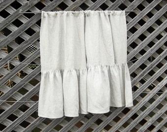 Custom Order Ruffled Linen Sink Curtain Ruffled Curtain for Farmhouse Sink Ruffled Curtain Ruffled Linen Curtain
