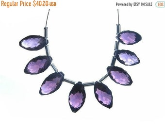 50% Off Valentine day Outrageous AAA Amethyst Faceted Rice Briolettes 4 matched pair 8 Pieces 14x7mm approx